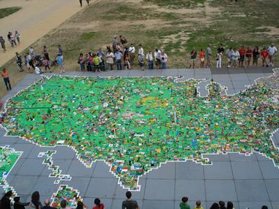 Mapa USA LEGO